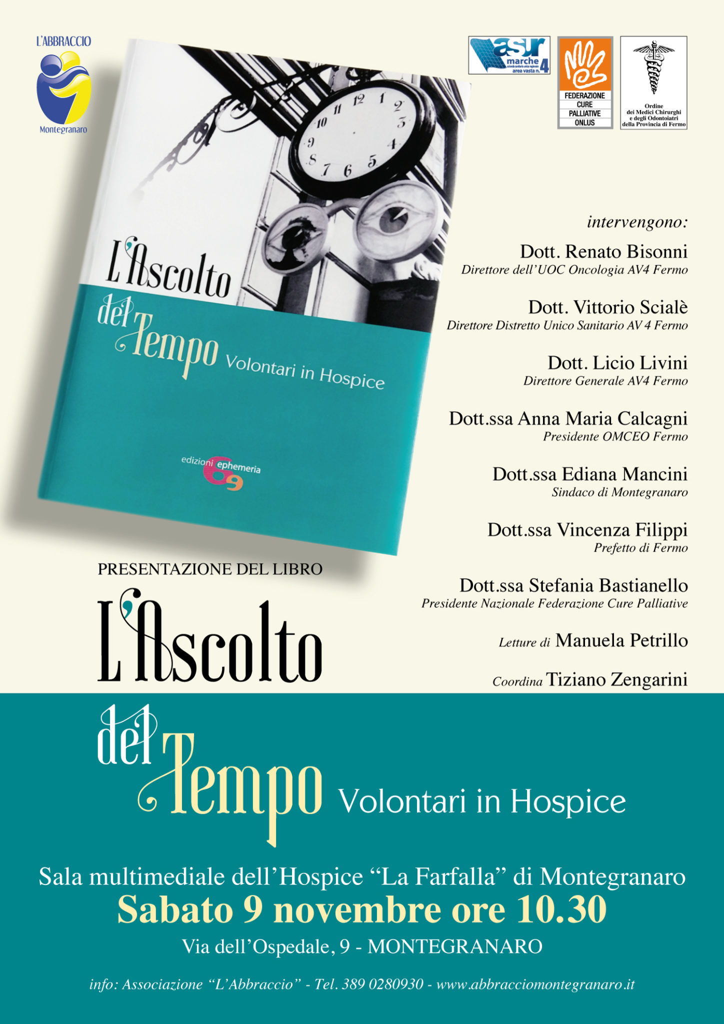 Presentazione del libro L'ASCOLTO DEL TEMPO Volontari in hospice
